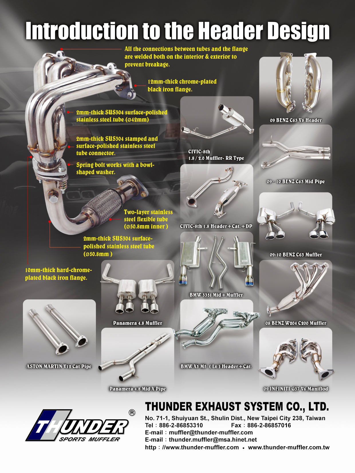 Thunder Exhuast System Co ,Ltd  Exhuast E-catalog (2012